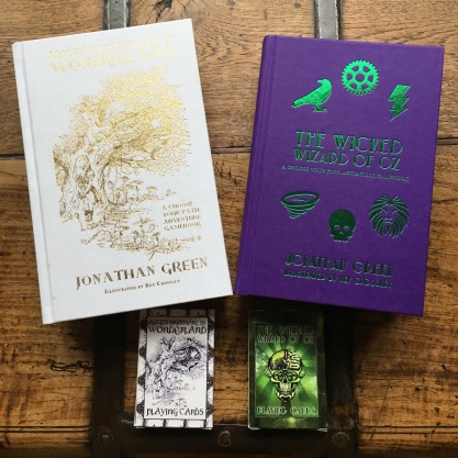 ACE Gamebooks and playing cards